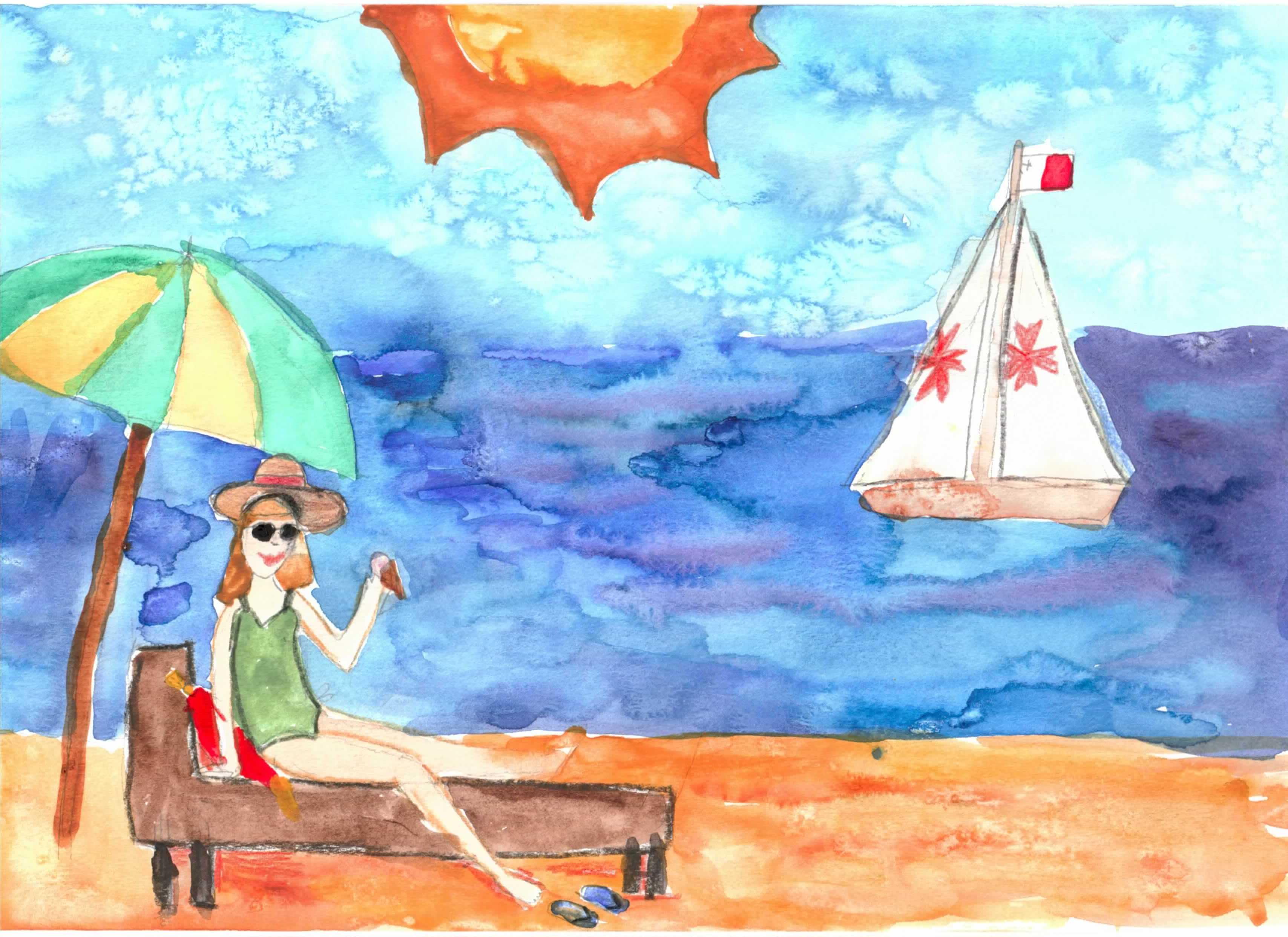 Рисунки мечта о лете